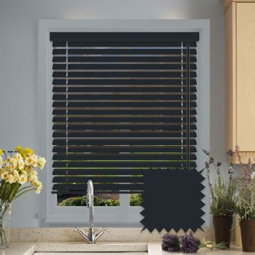 Forestwood 50mm Real Wood Venetian blinds Made to Measure in Anthracite